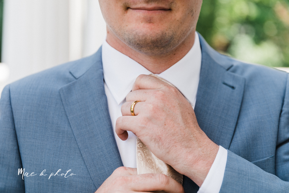 christina and michael's baseball themed midwest wedding at drake's landing and river's fellowside gardens in mill creek park in  youngstown ohio and holy family parish in poland ohio photographed by youngstown wedding photographer mae b photo-154.jpg