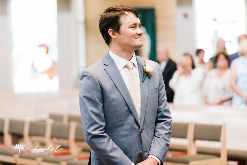 christina and michael's baseball themed midwest wedding at drake's landing and river's fellowside gardens in mill creek park in  youngstown ohio and holy family parish in poland ohio photographed by youngstown wedding photographer mae b photo-30.jpg