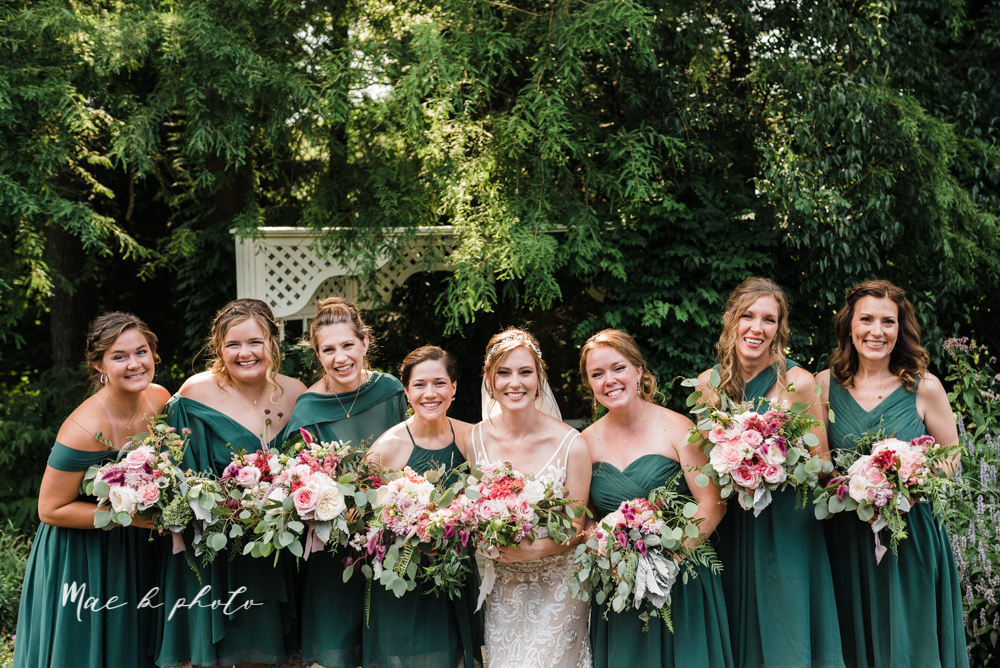 christina and michael's baseball themed midwest wedding at drake's landing and river's fellowside gardens in mill creek park in  youngstown ohio and holy family parish in poland ohio photographed by youngstown wedding photographer mae b photo-62.jpg