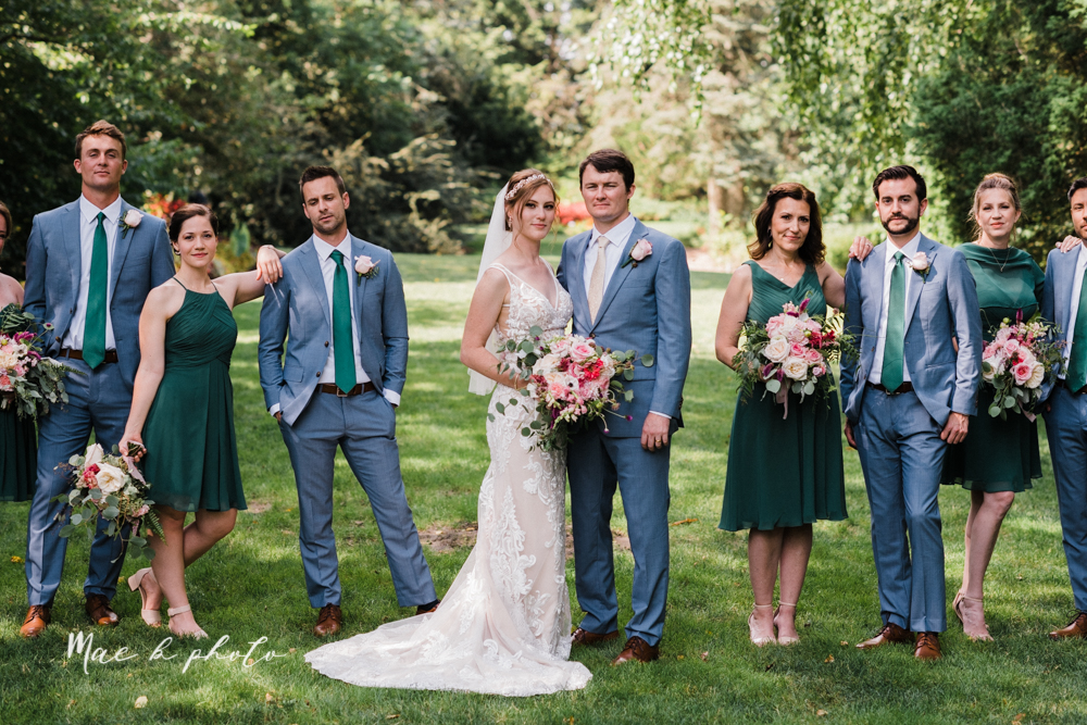 christina and michael's baseball themed midwest wedding at drake's landing and river's fellowside gardens in mill creek park in  youngstown ohio and holy family parish in poland ohio photographed by youngstown wedding photographer mae b photo-51.jpg