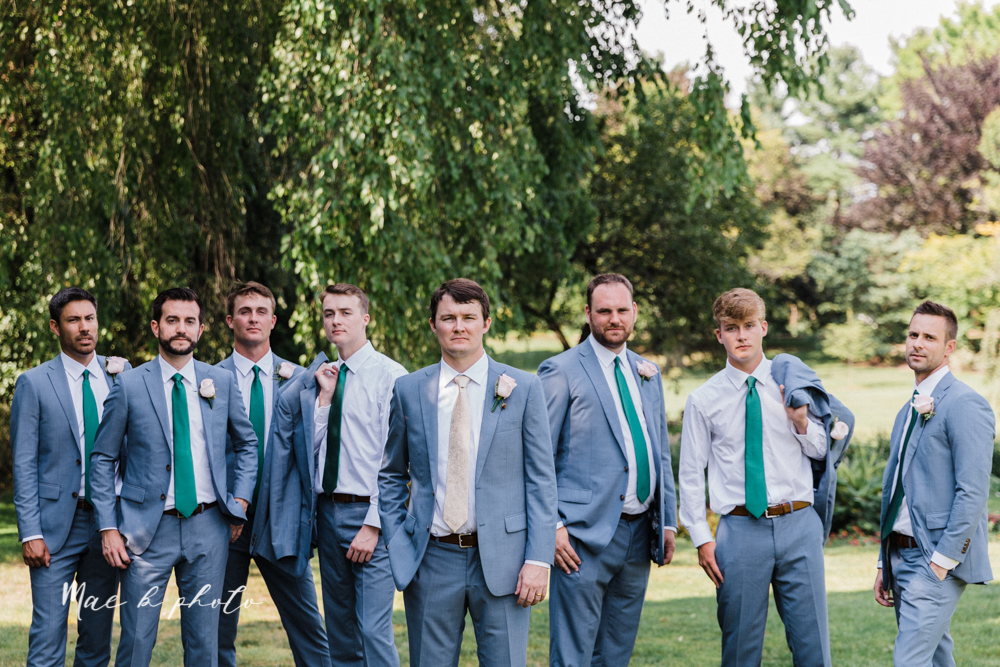 christina and michael's baseball themed midwest wedding at drake's landing and river's fellowside gardens in mill creek park in  youngstown ohio and holy family parish in poland ohio photographed by youngstown wedding photographer mae b photo-163.jpg