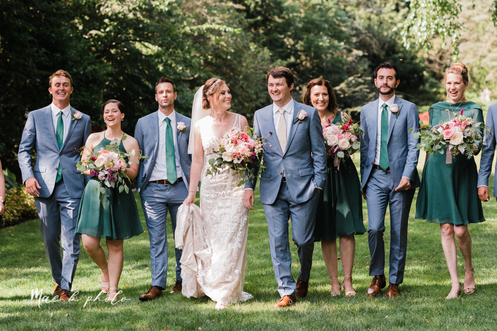 christina and michael's baseball themed midwest wedding at drake's landing and river's fellowside gardens in mill creek park in  youngstown ohio and holy family parish in poland ohio photographed by youngstown wedding photographer mae b photo-54.jpg