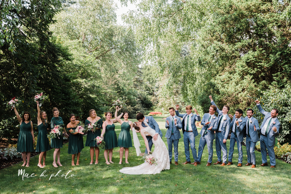 christina and michael's baseball themed midwest wedding at drake's landing and river's fellowside gardens in mill creek park in  youngstown ohio and holy family parish in poland ohio photographed by youngstown wedding photographer mae b photo-49.jpg