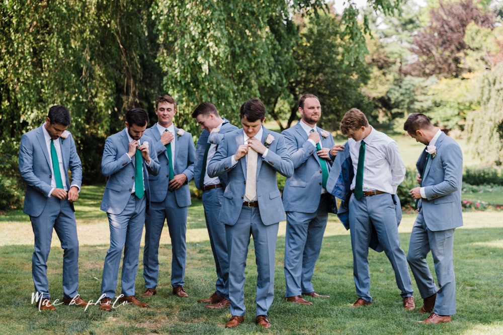 christina and michael's baseball themed midwest wedding at drake's landing and river's fellowside gardens in mill creek park in  youngstown ohio and holy family parish in poland ohio photographed by youngstown wedding photographer mae b photo-164.jpg