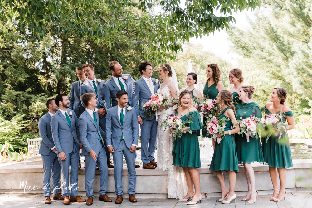 christina and michael's baseball themed midwest wedding at drake's landing and river's fellowside gardens in mill creek park in  youngstown ohio and holy family parish in poland ohio photographed by youngstown wedding photographer mae b photo-161.jpg