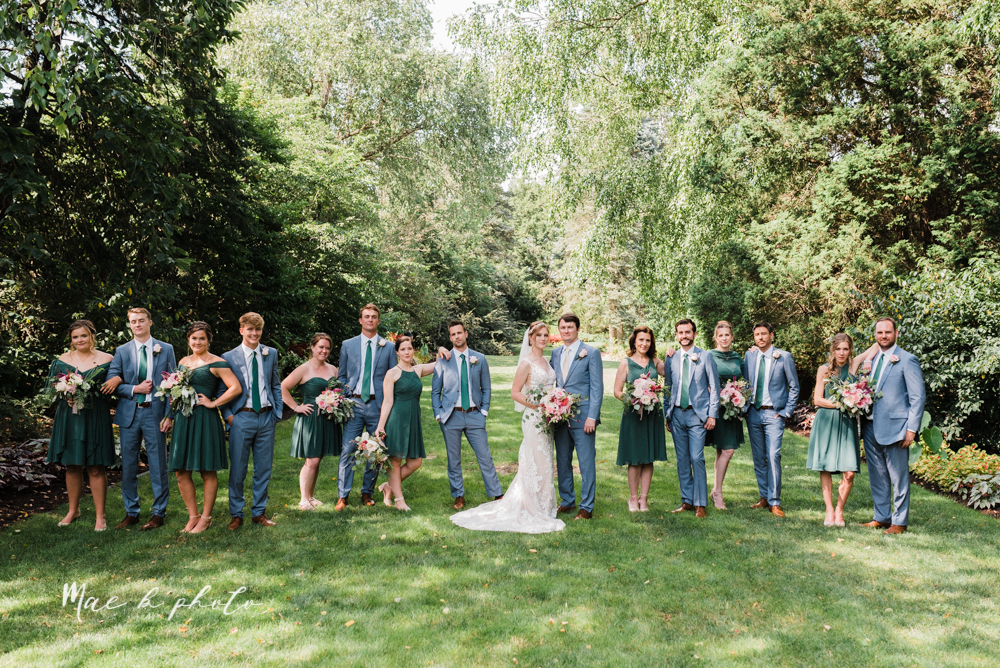 christina and michael's baseball themed midwest wedding at drake's landing and river's fellowside gardens in mill creek park in  youngstown ohio and holy family parish in poland ohio photographed by youngstown wedding photographer mae b photo-50.jpg