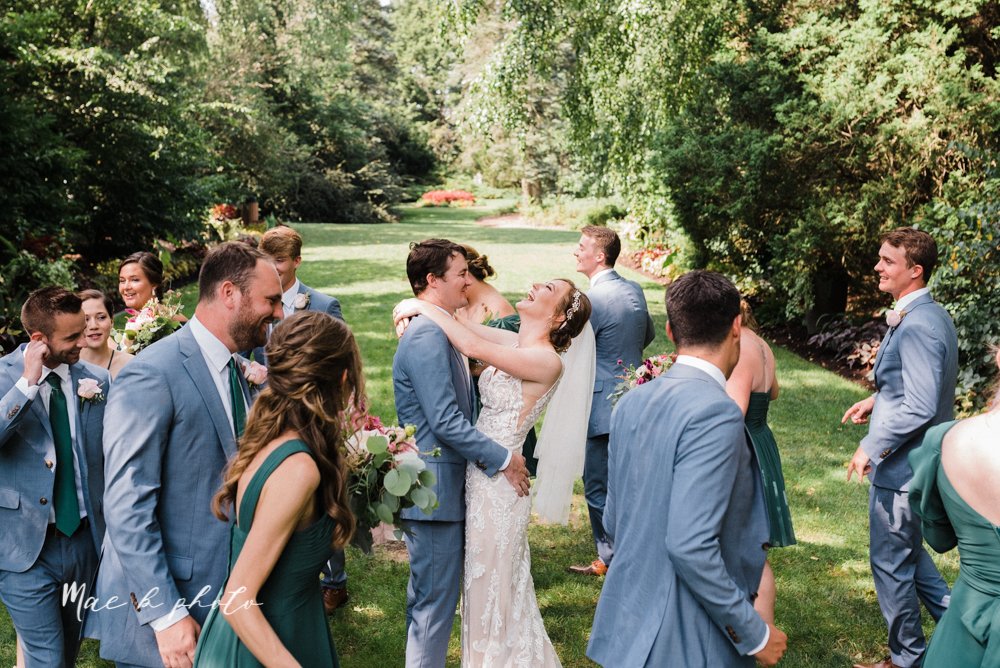 christina and michael's baseball themed midwest wedding at drake's landing and river's fellowside gardens in mill creek park in  youngstown ohio and holy family parish in poland ohio photographed by youngstown wedding photographer mae b photo-55.jpg
