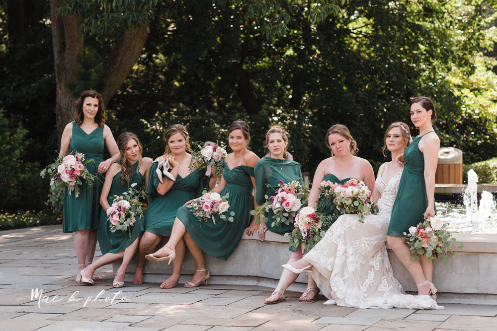 christina and michael's baseball themed midwest wedding at drake's landing and river's fellowside gardens in mill creek park in  youngstown ohio and holy family parish in poland ohio photographed by youngstown wedding photographer mae b photo-67.jpg