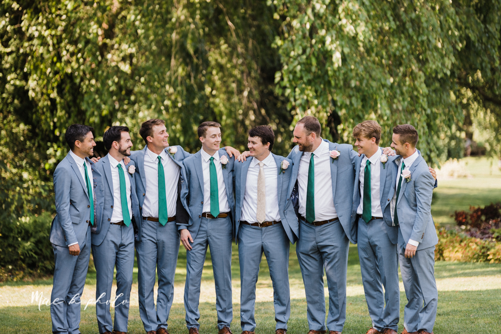 christina and michael's baseball themed midwest wedding at drake's landing and river's fellowside gardens in mill creek park in  youngstown ohio and holy family parish in poland ohio photographed by youngstown wedding photographer mae b photo-193.jpg