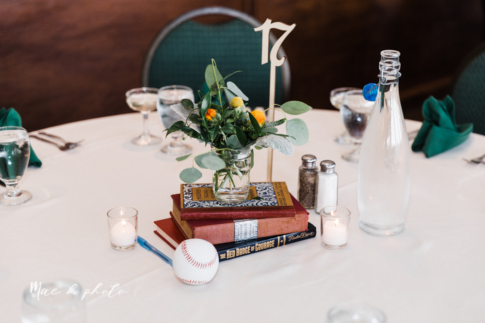 christina and michael's baseball themed midwest wedding at drake's landing and river's fellowside gardens in mill creek park in  youngstown ohio and holy family parish in poland ohio photographed by youngstown wedding photographer mae b photo-171.jpg
