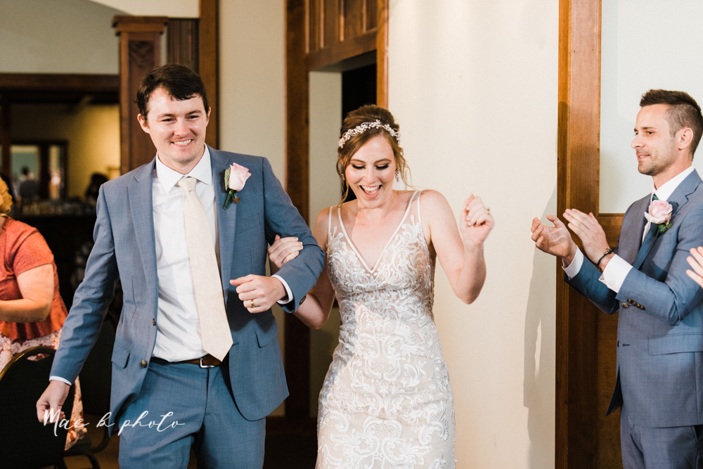 christina and michael's baseball themed midwest wedding at drake's landing and river's fellowside gardens in mill creek park in  youngstown ohio and holy family parish in poland ohio photographed by youngstown wedding photographer mae b photo-98.jpg