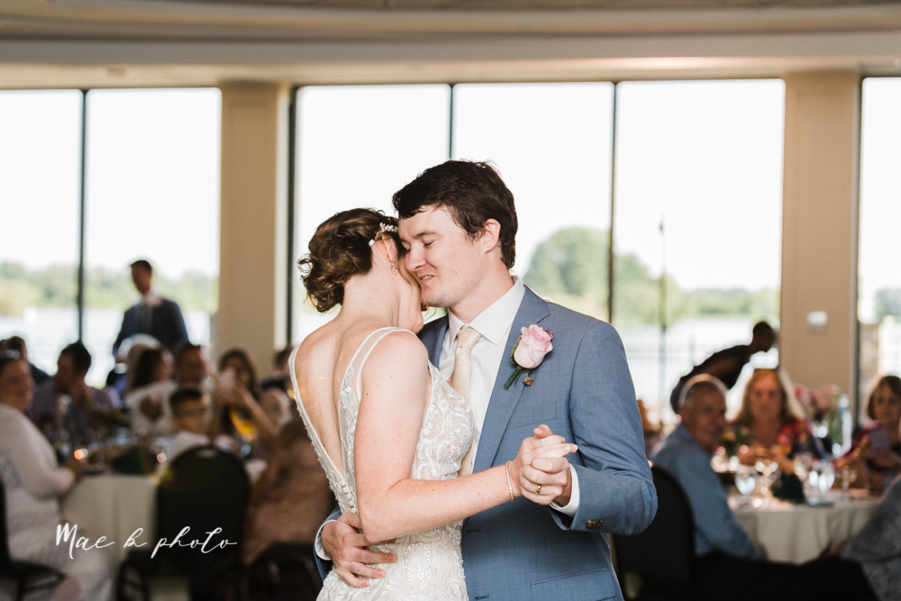 christina and michael's baseball themed midwest wedding at drake's landing and river's fellowside gardens in mill creek park in  youngstown ohio and holy family parish in poland ohio photographed by youngstown wedding photographer mae b photo-100.jpg