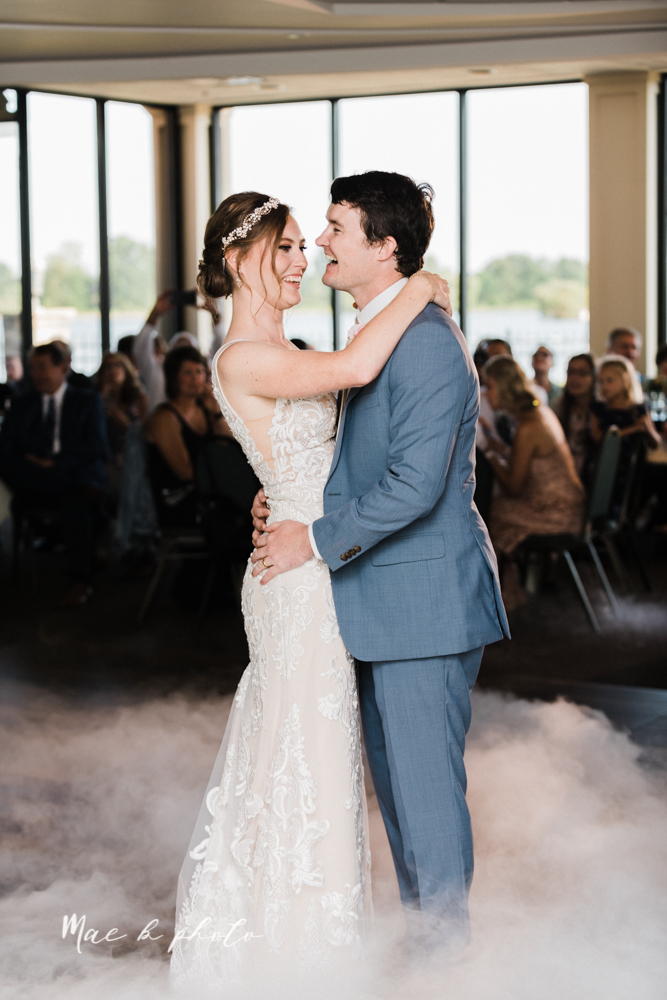christina and michael's baseball themed midwest wedding at drake's landing and river's fellowside gardens in mill creek park in  youngstown ohio and holy family parish in poland ohio photographed by youngstown wedding photographer mae b photo-102.jpg