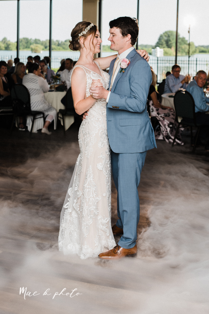 christina and michael's baseball themed midwest wedding at drake's landing and river's fellowside gardens in mill creek park in  youngstown ohio and holy family parish in poland ohio photographed by youngstown wedding photographer mae b photo-103.jpg