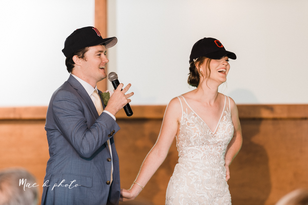 christina and michael's baseball themed midwest wedding at drake's landing and river's fellowside gardens in mill creek park in  youngstown ohio and holy family parish in poland ohio photographed by youngstown wedding photographer mae b photo-113.jpg