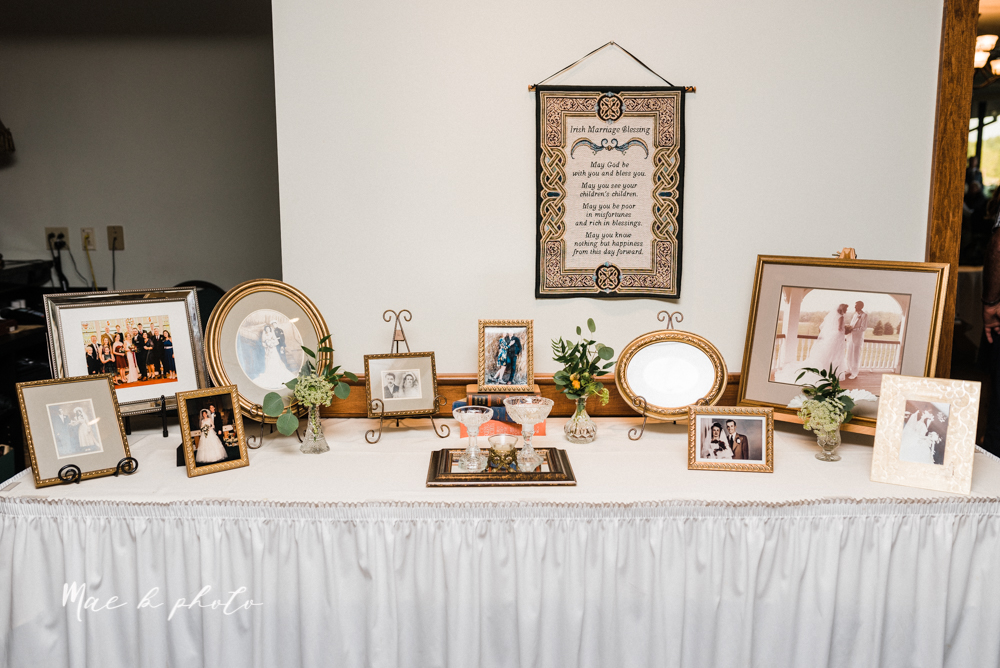 christina and michael's baseball themed midwest wedding at drake's landing and river's fellowside gardens in mill creek park in  youngstown ohio and holy family parish in poland ohio photographed by youngstown wedding photographer mae b photo-114.jpg