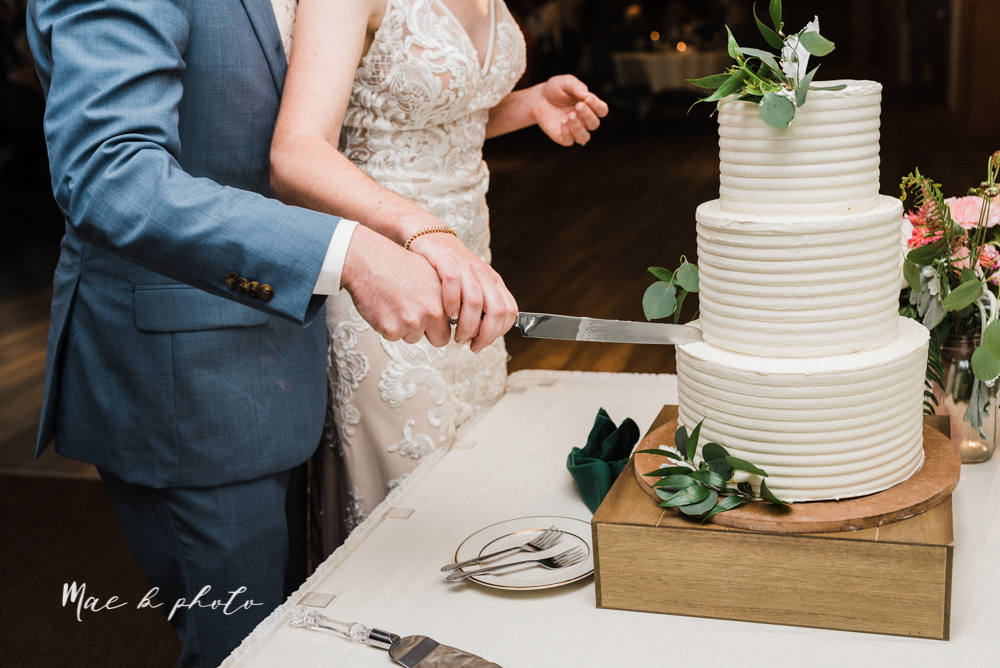christina and michael's baseball themed midwest wedding at drake's landing and river's fellowside gardens in mill creek park in  youngstown ohio and holy family parish in poland ohio photographed by youngstown wedding photographer mae b photo-115.jpg