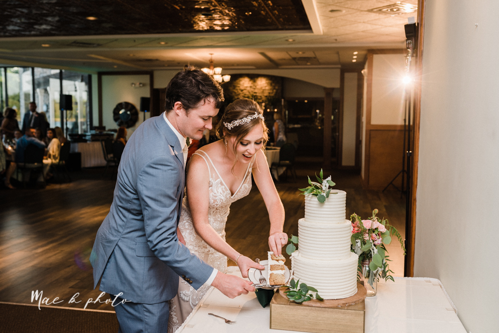christina and michael's baseball themed midwest wedding at drake's landing and river's fellowside gardens in mill creek park in  youngstown ohio and holy family parish in poland ohio photographed by youngstown wedding photographer mae b photo-116.jpg