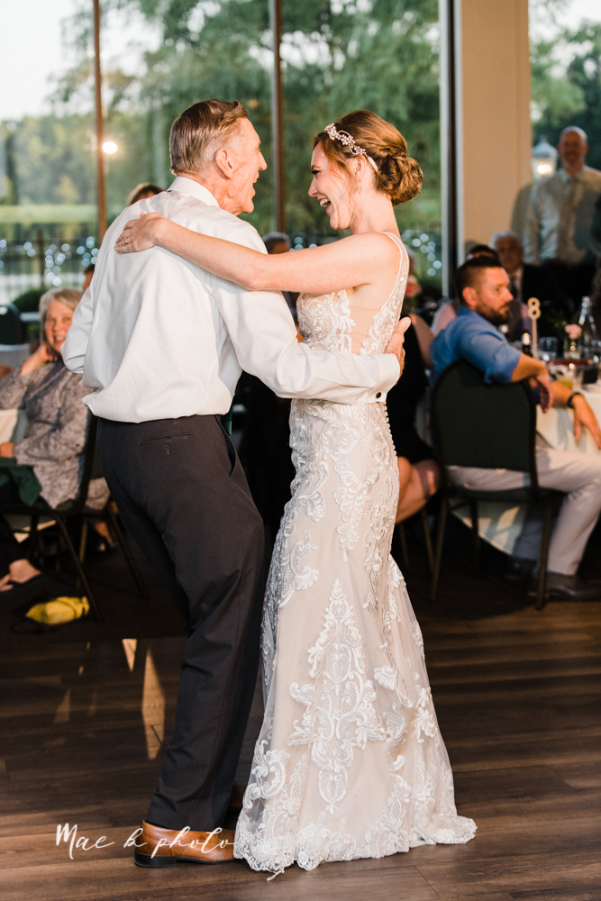 christina and michael's baseball themed midwest wedding at drake's landing and river's fellowside gardens in mill creek park in  youngstown ohio and holy family parish in poland ohio photographed by youngstown wedding photographer mae b photo-117.jpg