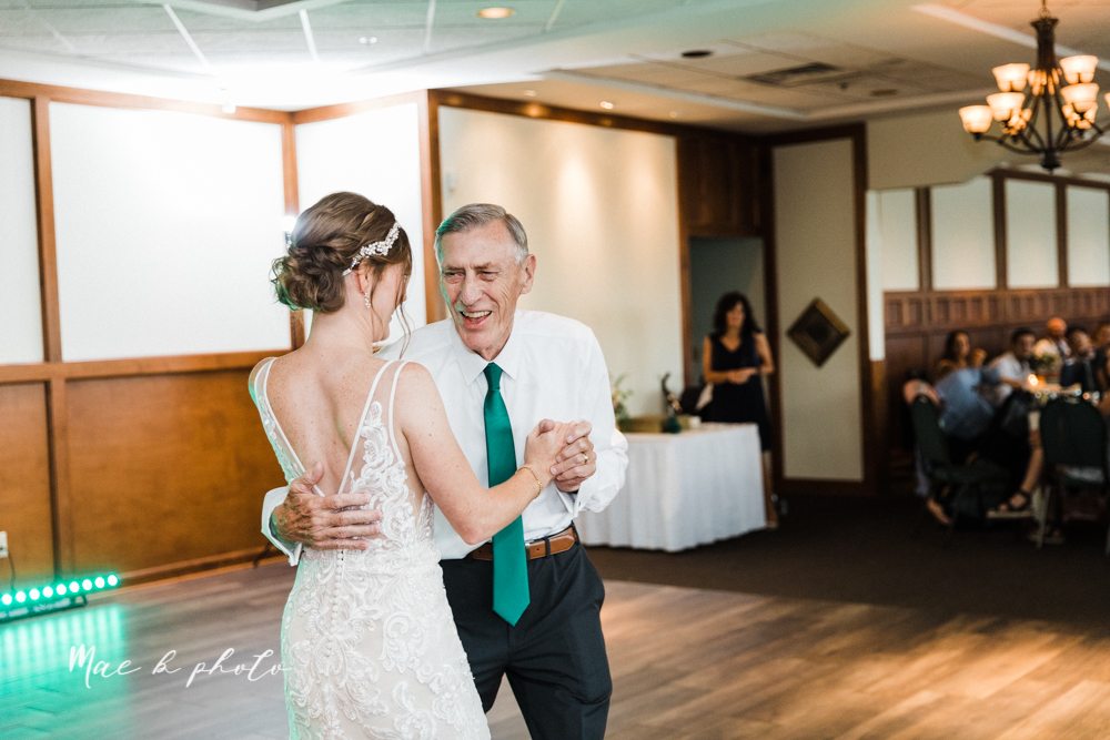 christina and michael's baseball themed midwest wedding at drake's landing and river's fellowside gardens in mill creek park in  youngstown ohio and holy family parish in poland ohio photographed by youngstown wedding photographer mae b photo-174.jpg