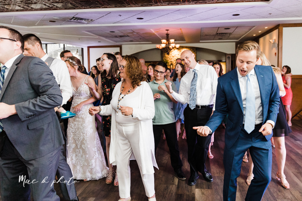 christina and michael's baseball themed midwest wedding at drake's landing and river's fellowside gardens in mill creek park in  youngstown ohio and holy family parish in poland ohio photographed by youngstown wedding photographer mae b photo-178.jpg