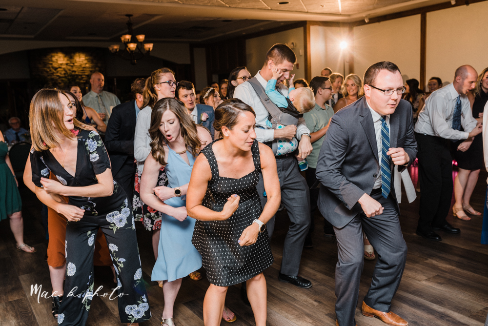 christina and michael's baseball themed midwest wedding at drake's landing and river's fellowside gardens in mill creek park in  youngstown ohio and holy family parish in poland ohio photographed by youngstown wedding photographer mae b photo-127.jpg