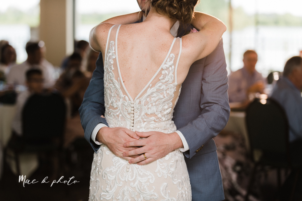 christina and michael's baseball themed midwest wedding at drake's landing and river's fellowside gardens in mill creek park in  youngstown ohio and holy family parish in poland ohio photographed by youngstown wedding photographer mae b photo-105.jpg