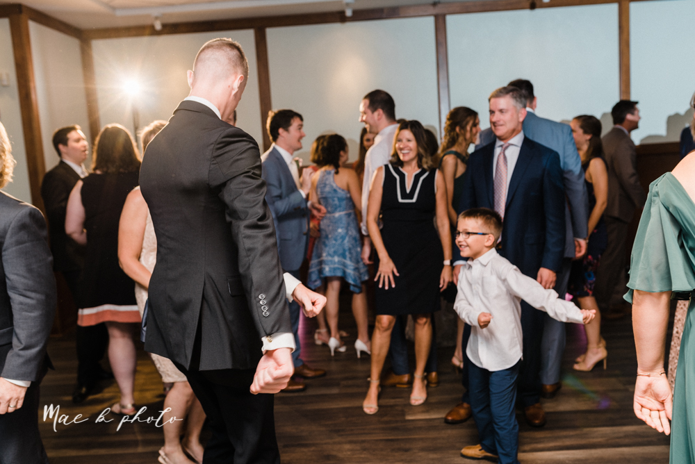 christina and michael's baseball themed midwest wedding at drake's landing and river's fellowside gardens in mill creek park in  youngstown ohio and holy family parish in poland ohio photographed by youngstown wedding photographer mae b photo-122.jpg