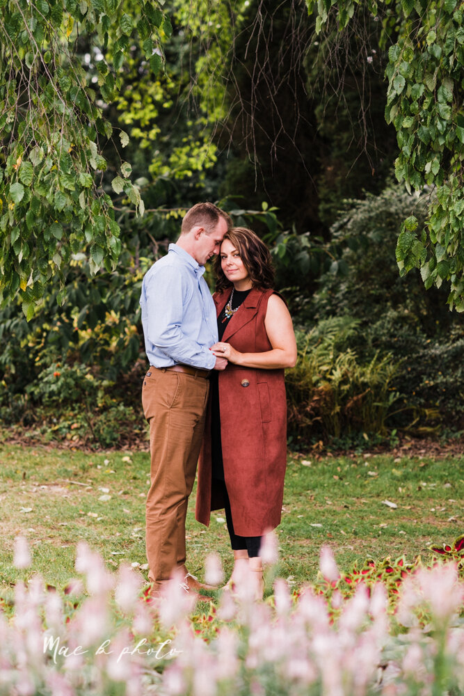 emily and karl's summer garden engagement session family session at fellows riverside gardens in mill creek park in youngstown ohio photographed by youngstown wedding photographer mae b photo-15.jpg
