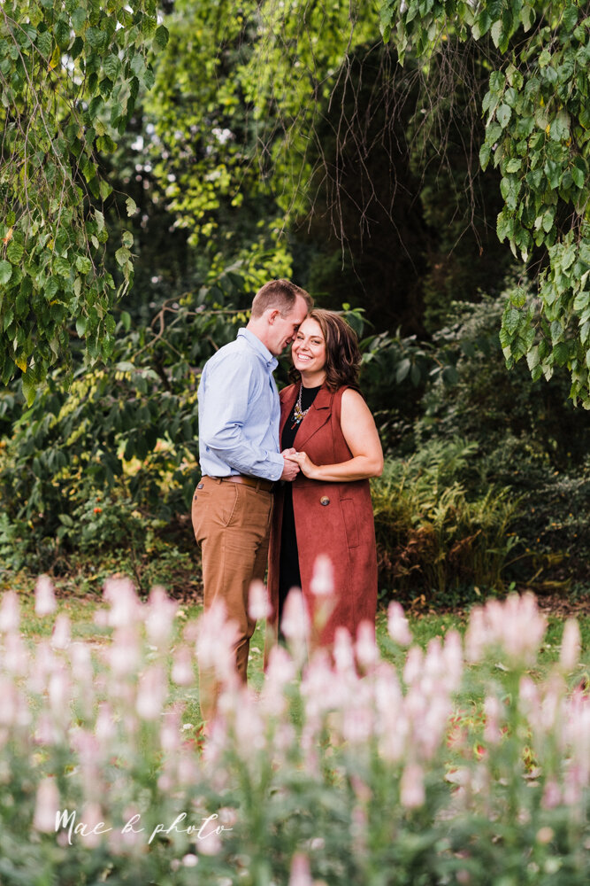 emily and karl's summer garden engagement session family session at fellows riverside gardens in mill creek park in youngstown ohio photographed by youngstown wedding photographer mae b photo-16.jpg