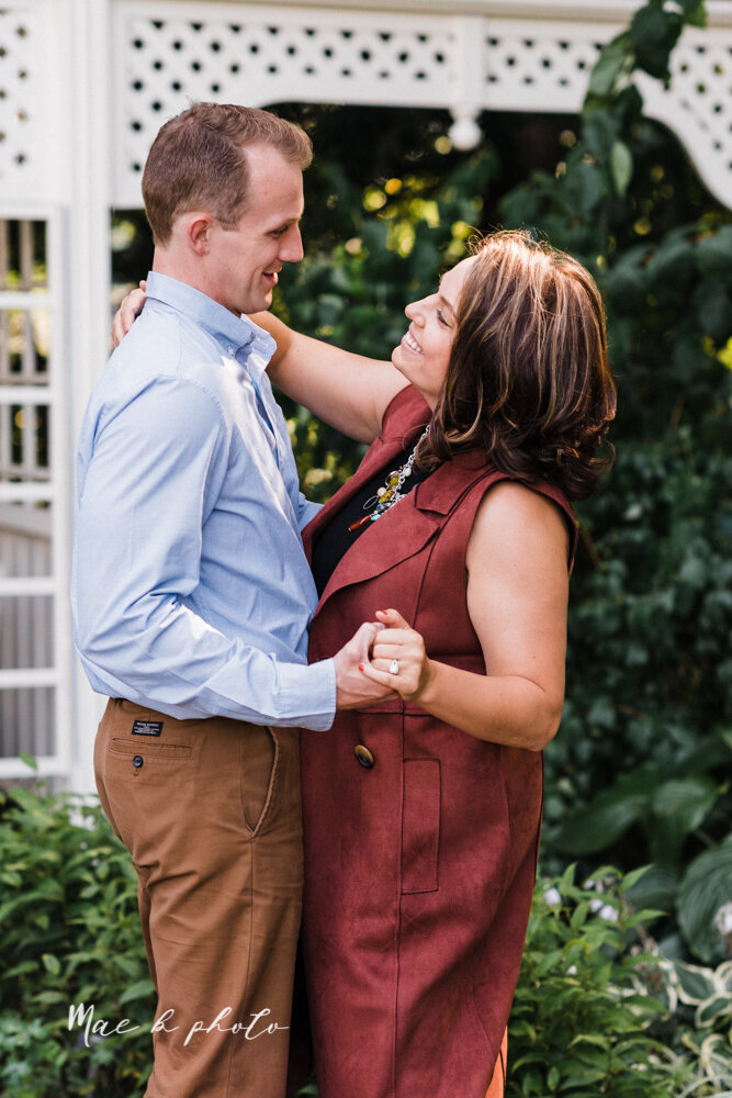 emily and karl's summer garden engagement session family session at fellows riverside gardens in mill creek park in youngstown ohio photographed by youngstown wedding photographer mae b photo-45.jpg