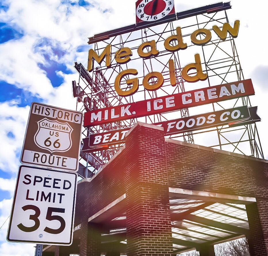 Meadow Gold Sign - Tulsa Photography