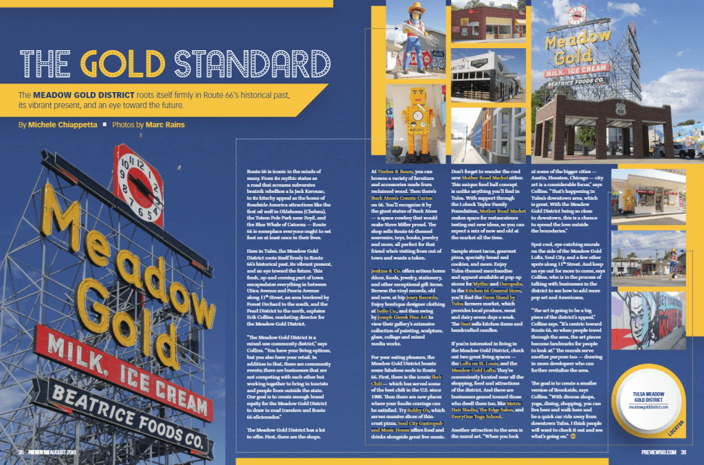 THE GOLD STANDARD - The Meadow Gold District roots itself firmly in Route 66's historical past, its vibrant present, and an eye toward the future.