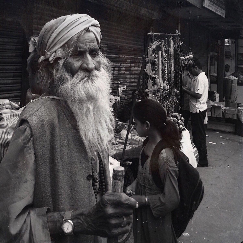 Man at Chandni Chowk