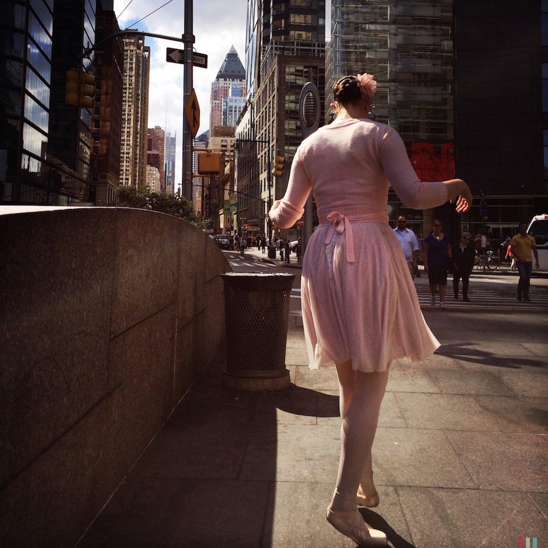 Dancing in Columbus Circle