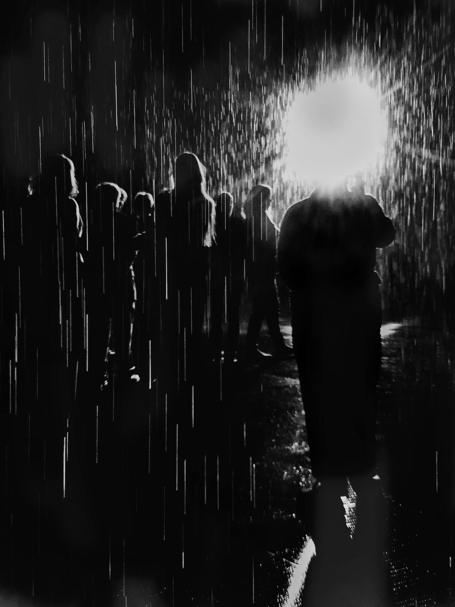 Headlight in the Rain Room