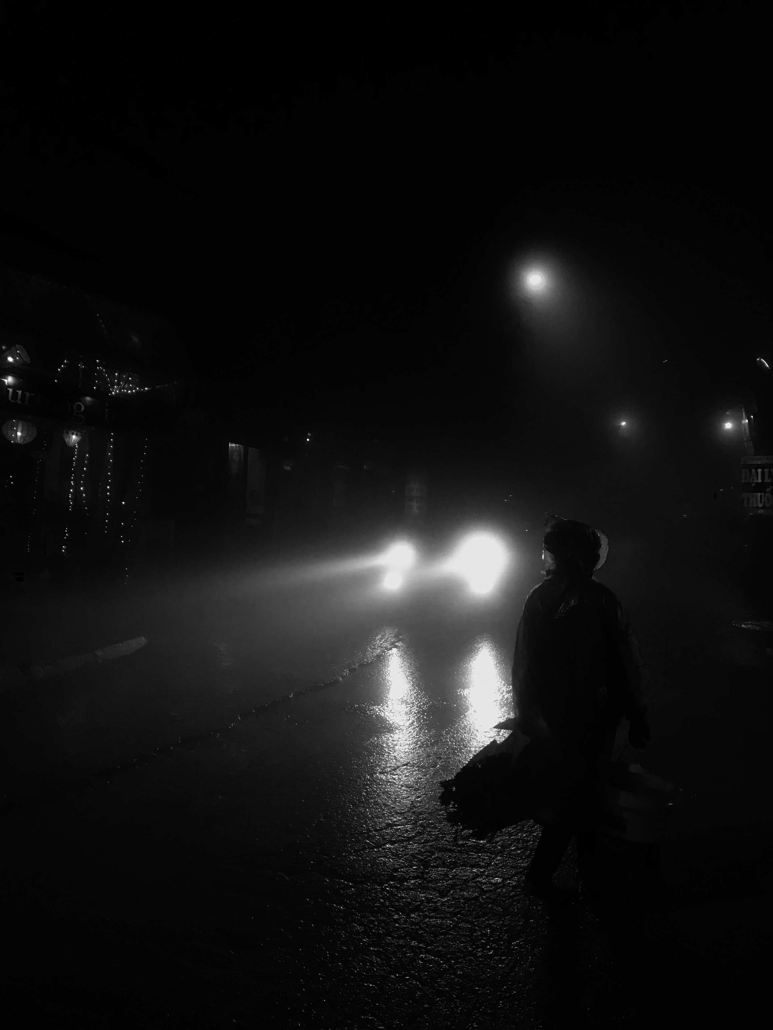 Copy of Headlights in the Rain