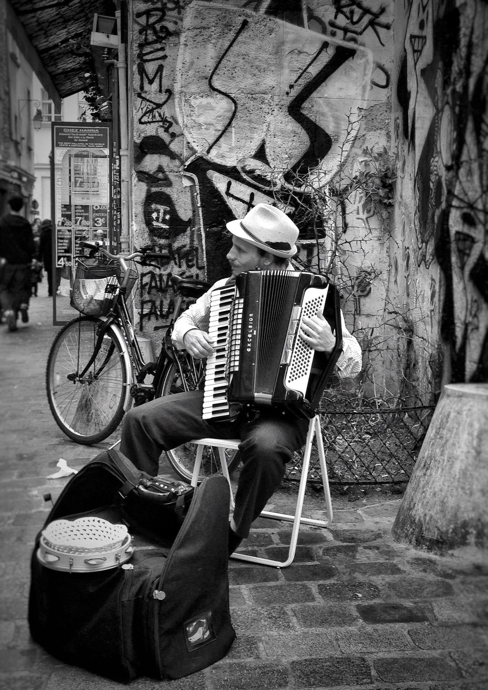 Copy of The Accordian Player in Le Marais