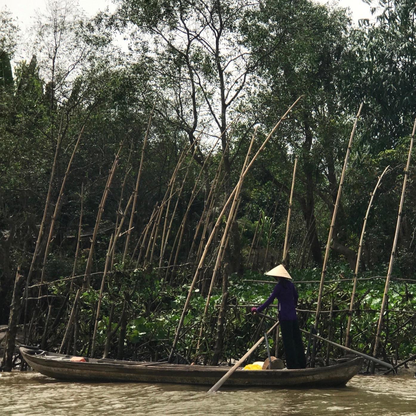 Paddling on the Mekong Delta (Vietnam)