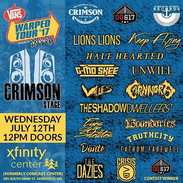 WHOA! Talk about one hell of a stacked local stage at @vanswarpedtour in Mansfield! @keepflyingband @eyesonsatellites @lionslions @fathomfarewell and @crisisadofficial just to name a few!! Make sure to catch some of your favorite bands, but also go out and support your local scene! #crowdsurfcentral #warpedtour #supportlocalmusic