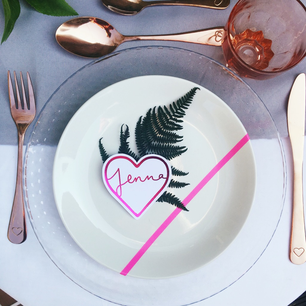 botanical place setting