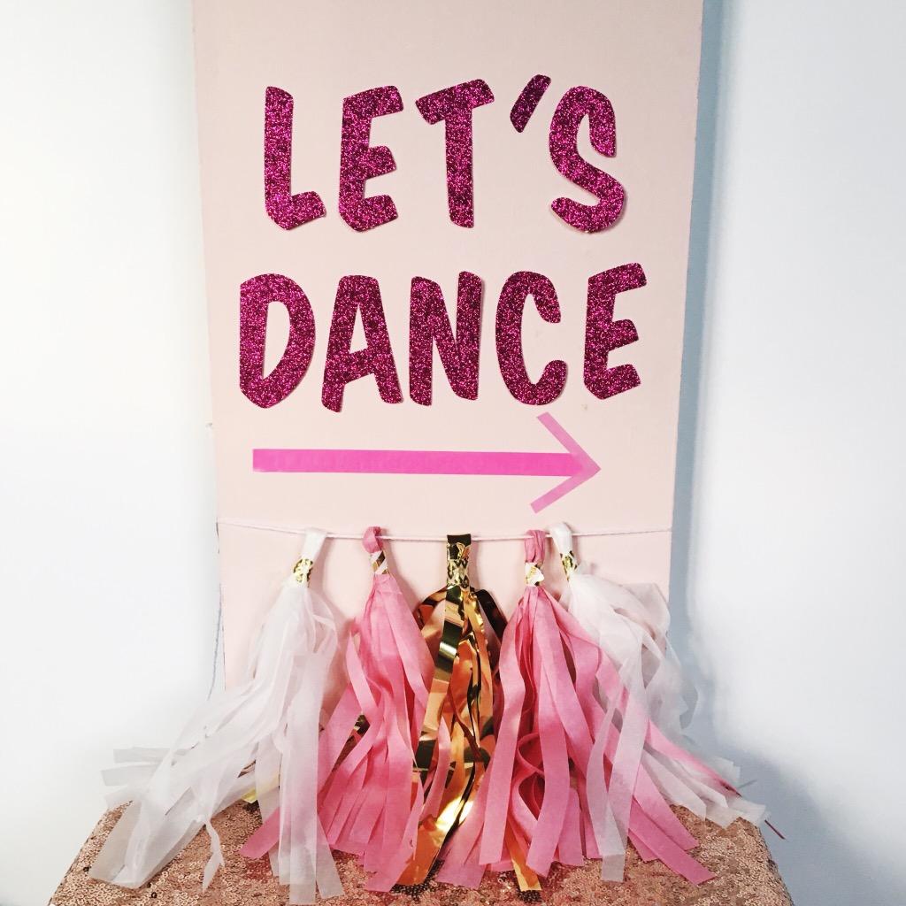 pink wedding garland