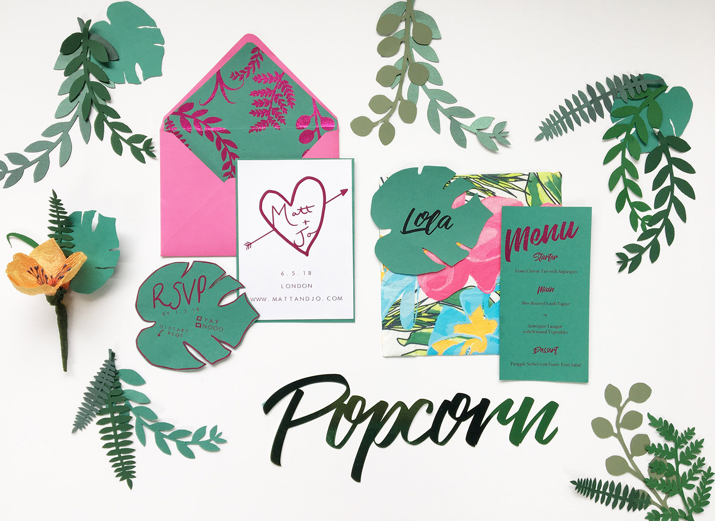 botanical themed wedding
