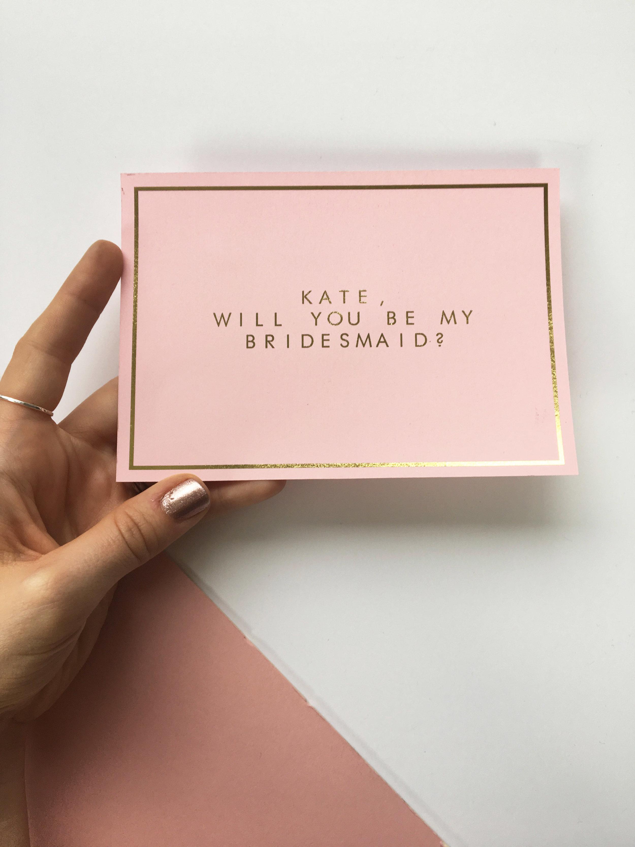 bridesmaids proposal cards