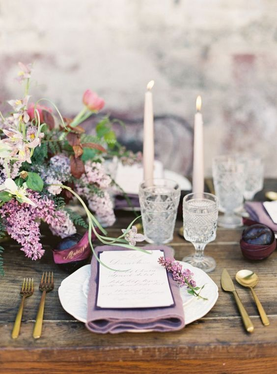 amethyst table scape