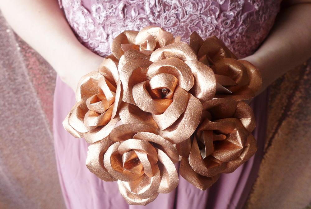 copper bridesmaids posy