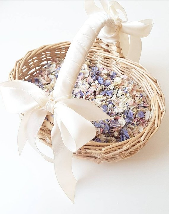 bridesmaids petal basket