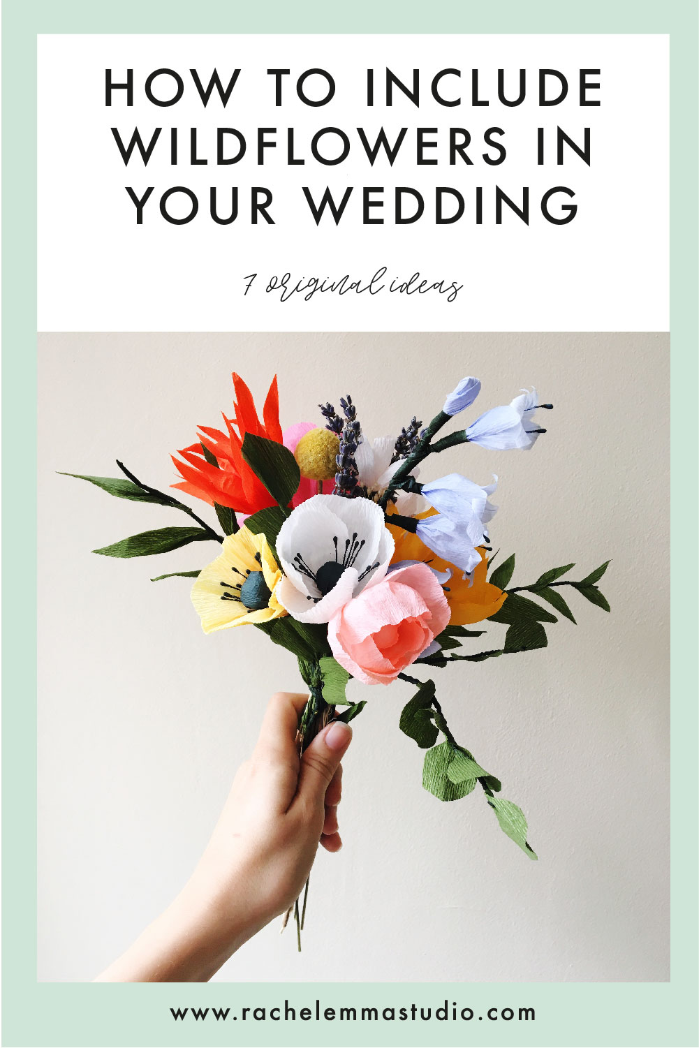 how to include wildflowers in your wedding