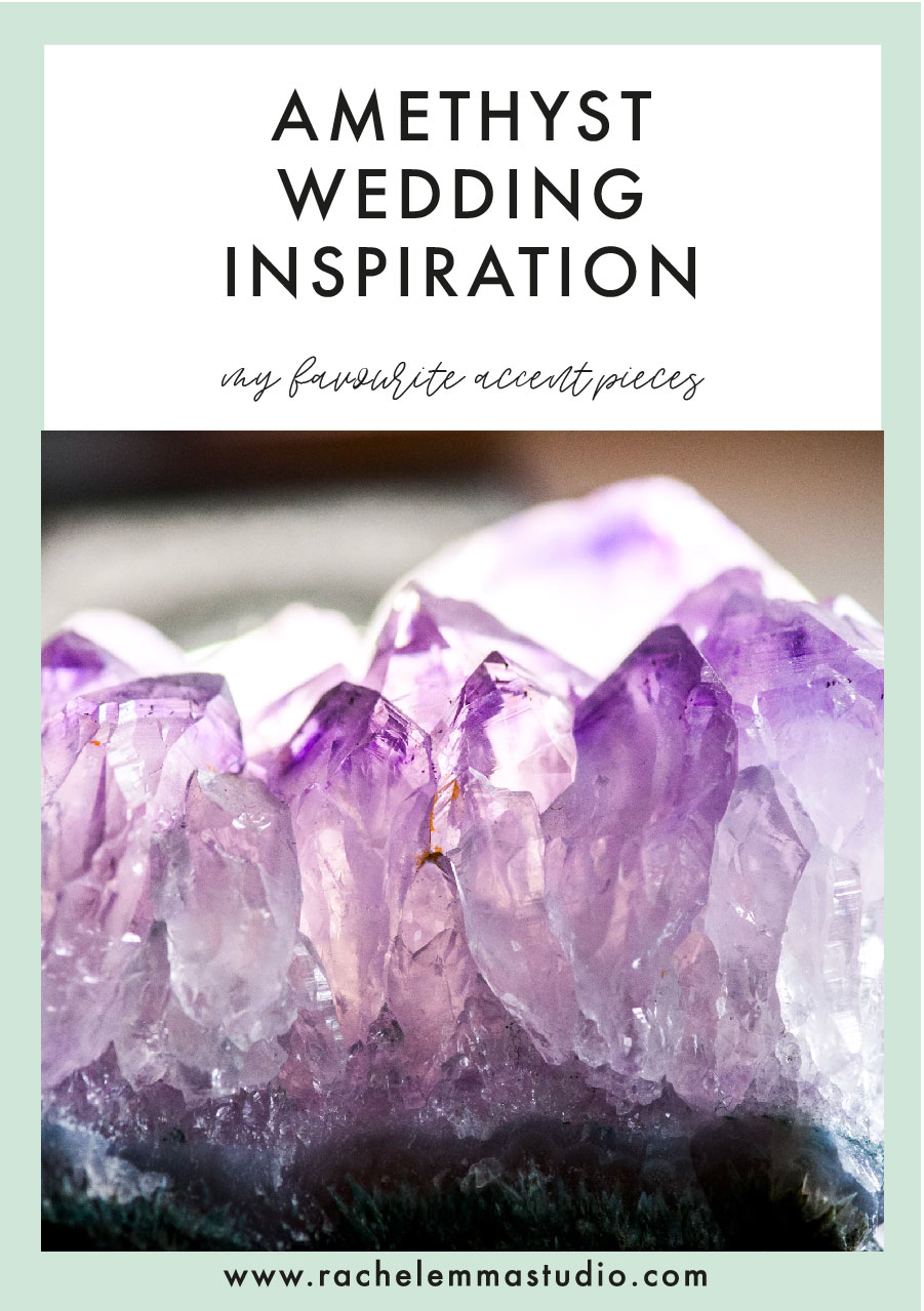 amethyst wedding inspiration