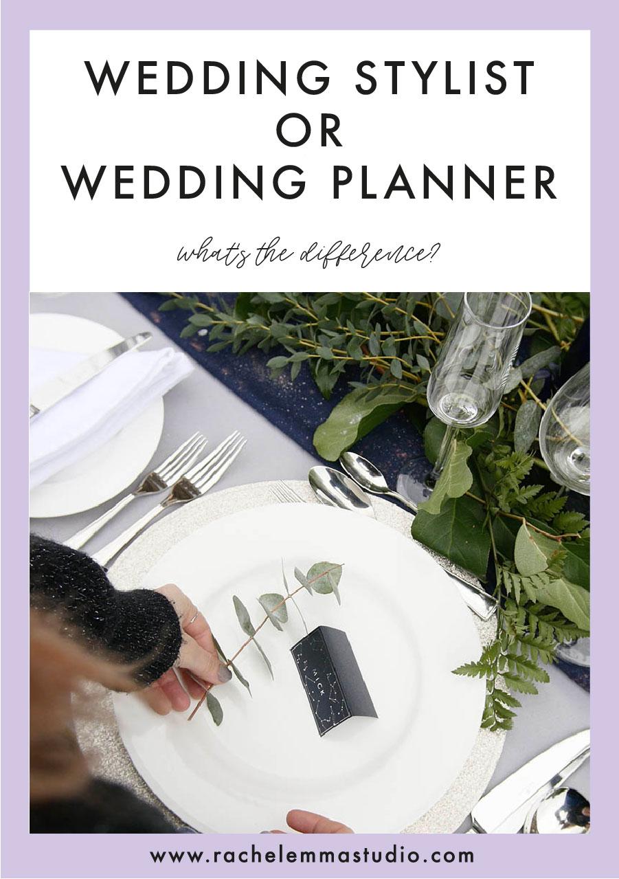 wedding stylist or wedding planner
